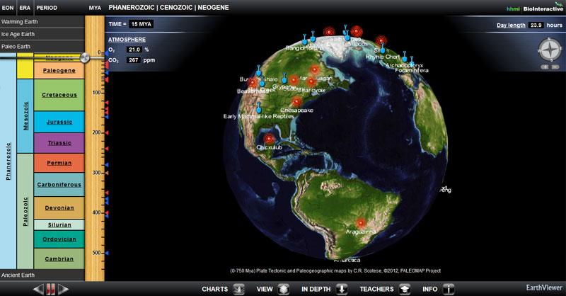Geología de la Tierra: fosiles e impactos de meteoritos