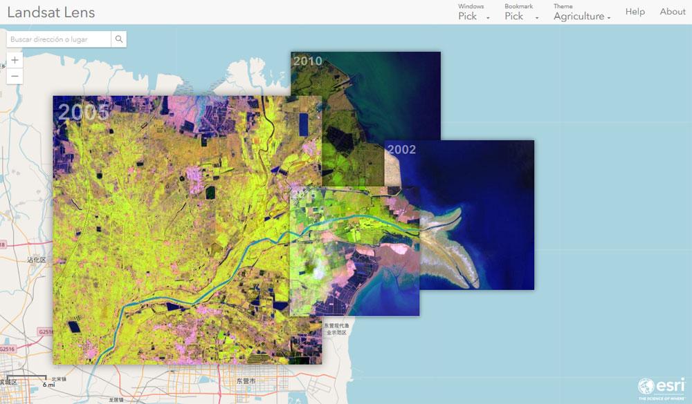 Superposición y comparación de imágenes satélite