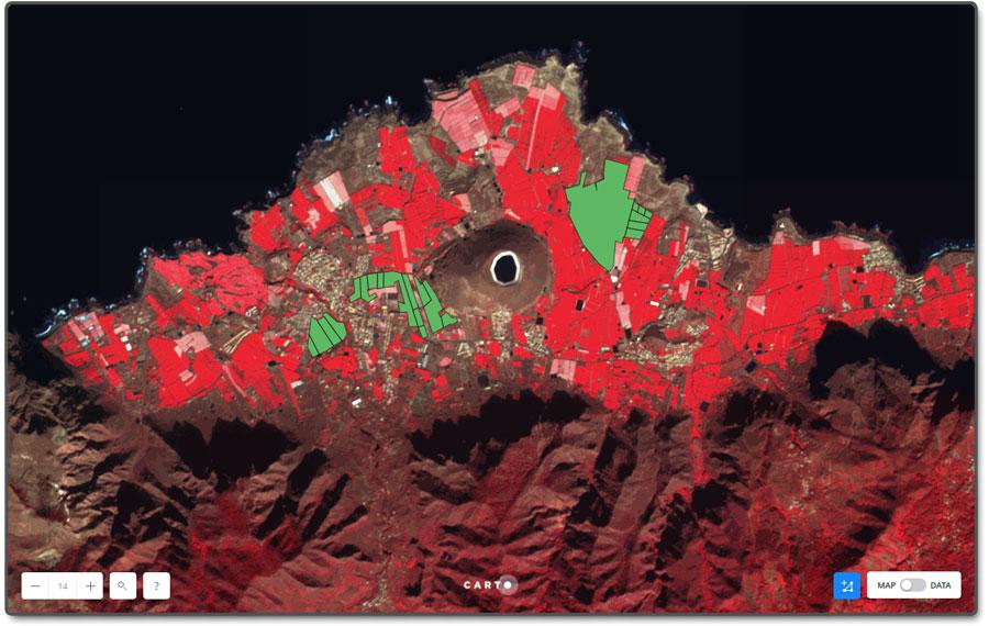 Análisis espacial con Carto de parcelas agrarias