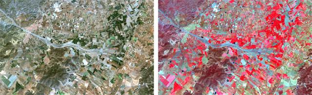 juxtapose superposición de mapas
