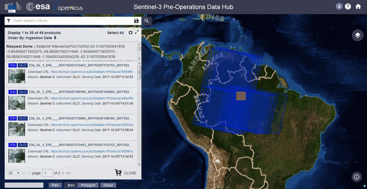 Descarga de imágenes Sentinel desde Data Hub de Copernicus