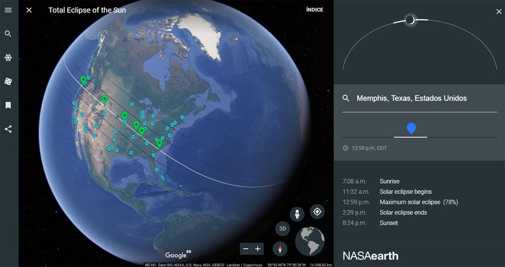 mapas de eclipse solar