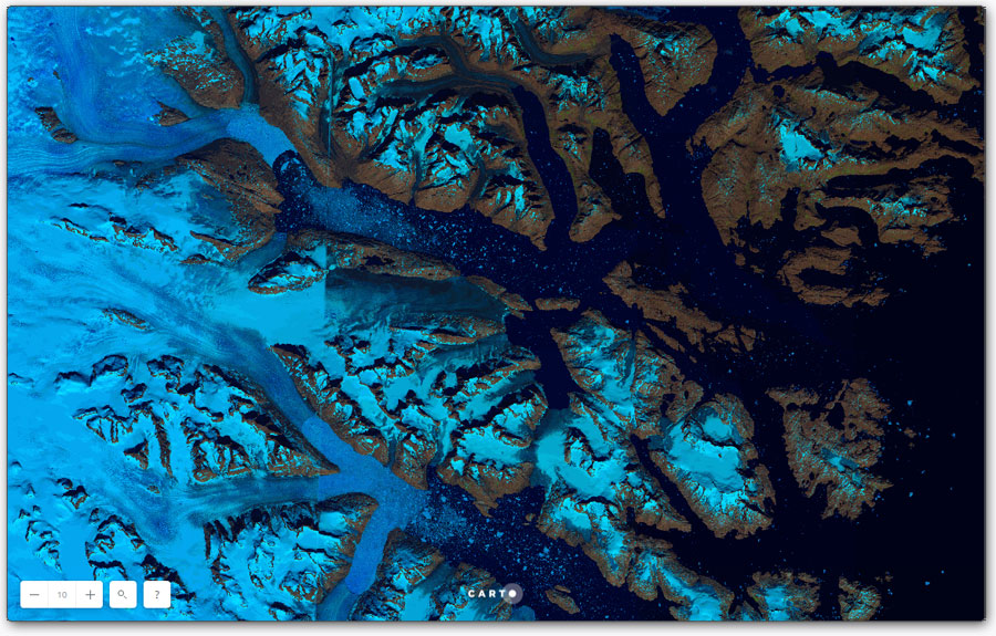 Análisis espacial con Carto para glaciares