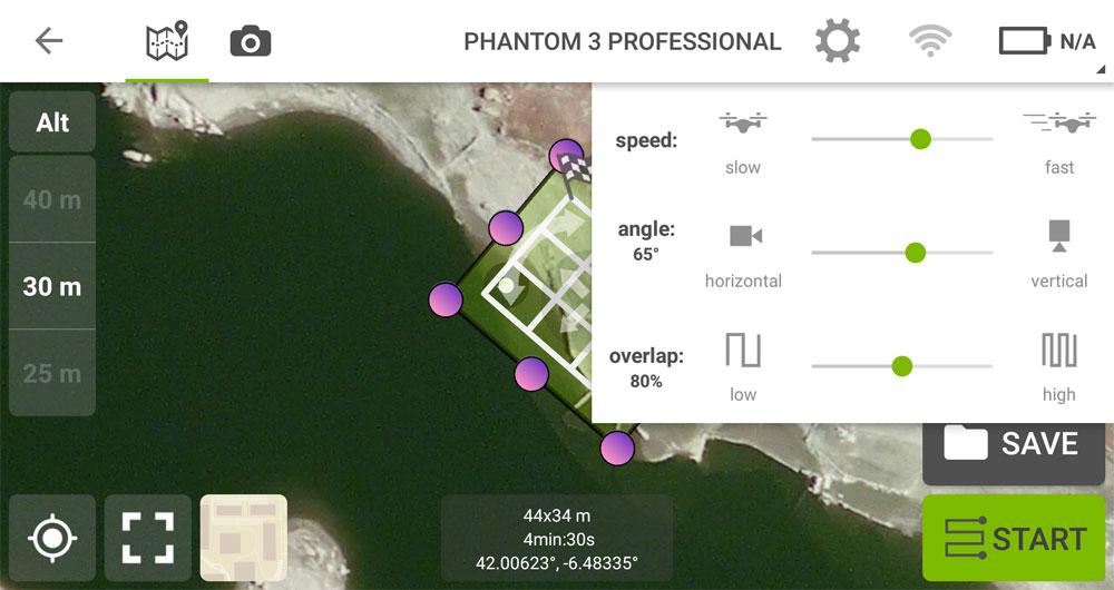 Planificación de misiones cruzadas con Pix4D para drones