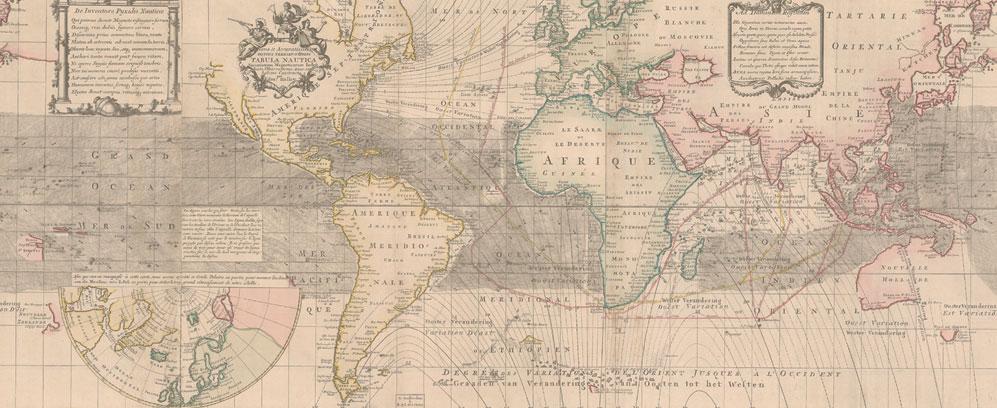 Cartografias de lo desconocido. Mapa magnético terrestre