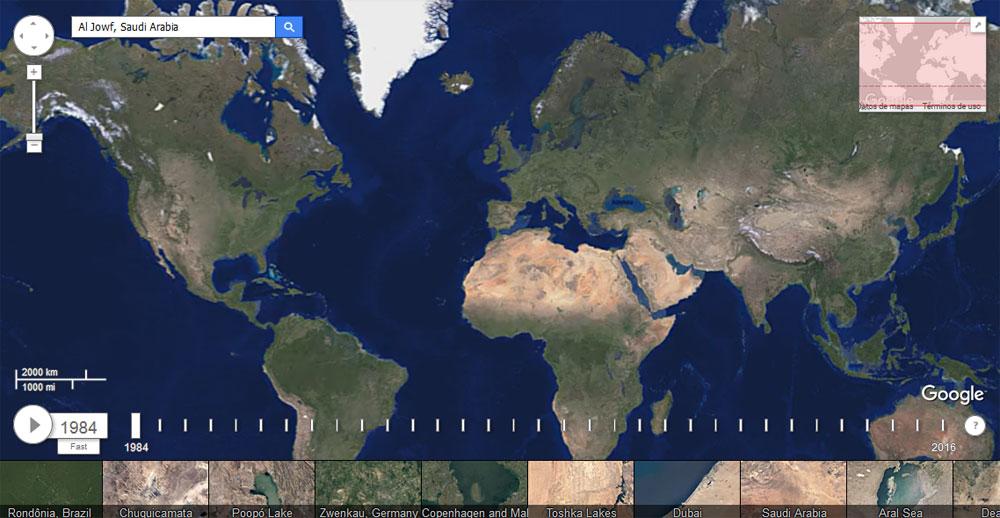 Visor timelapses de Google Engine