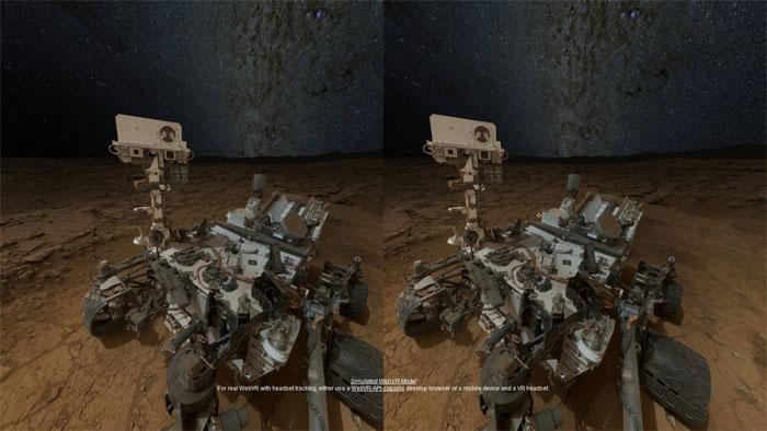 Imágenes 3D con VR de Marte