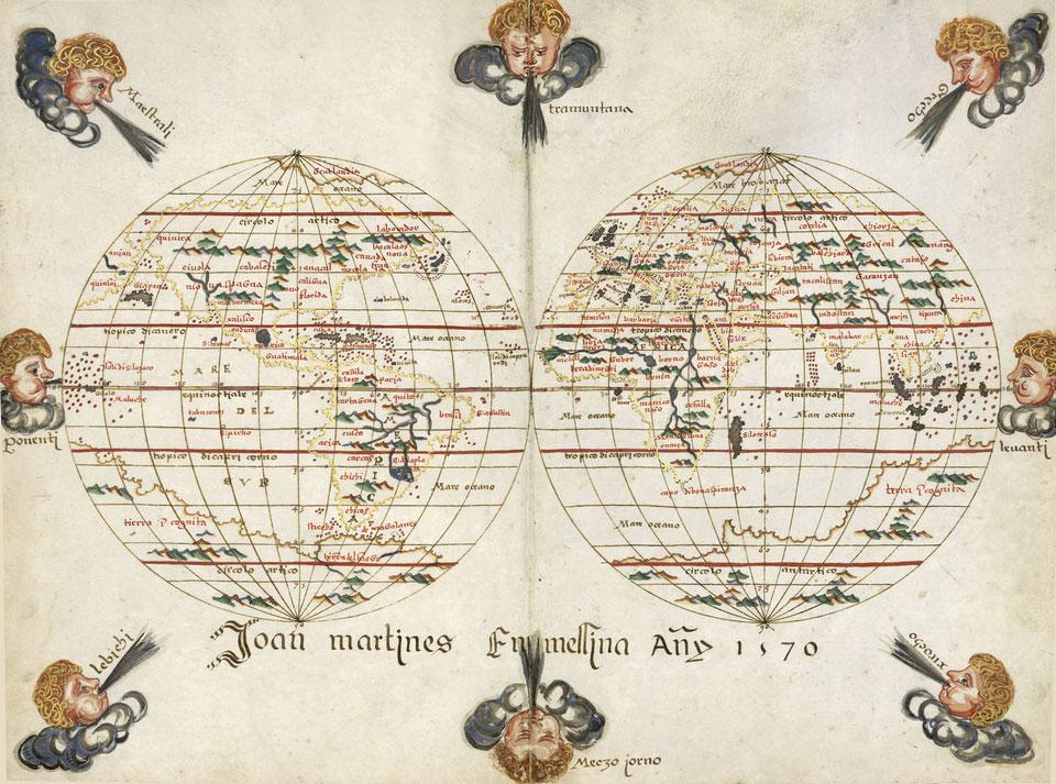 Mapas portulanos de Joan Martines