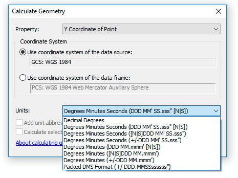Coordenadas medidas en grados, minutos y segundos
