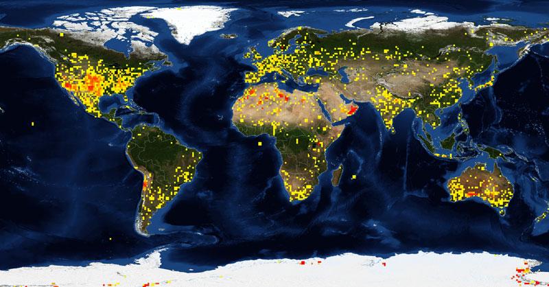El Mapa Mundial De Los Impactos De Meteoritos Gis Beers