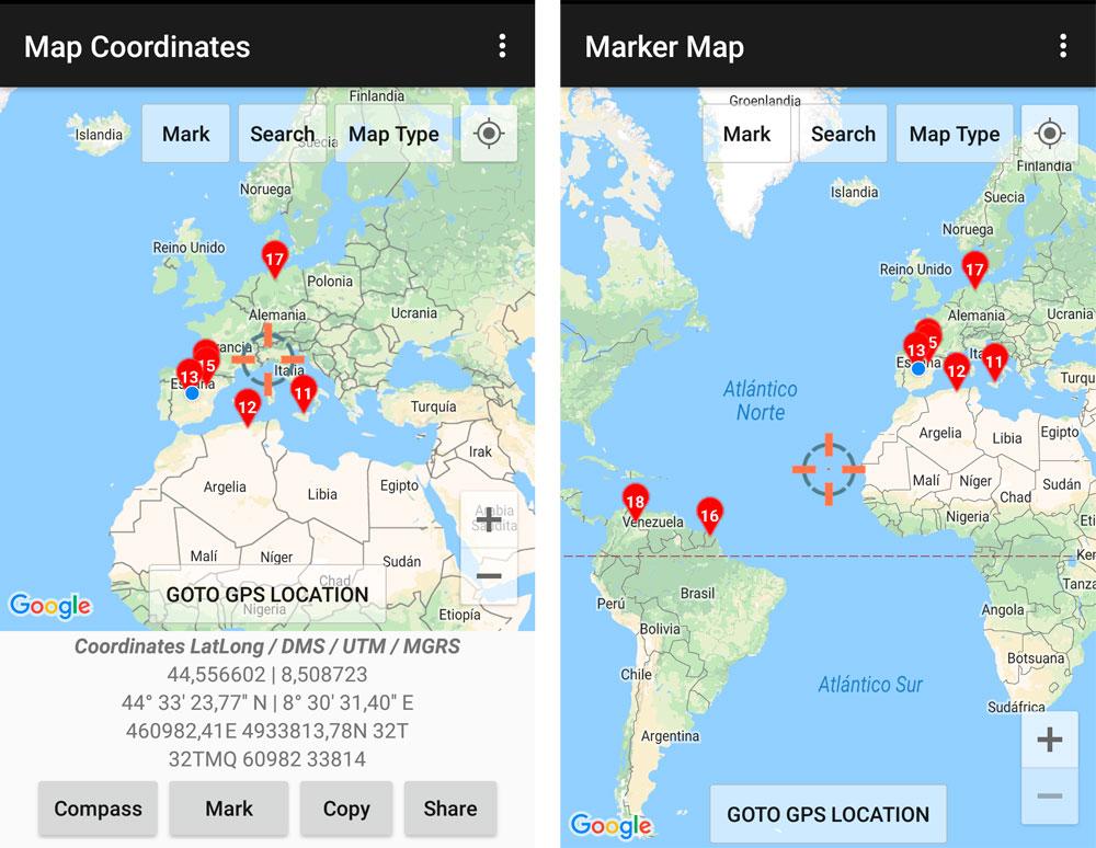 Mapas base para GPS