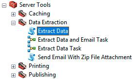 Extract data para recortar capas en bloque