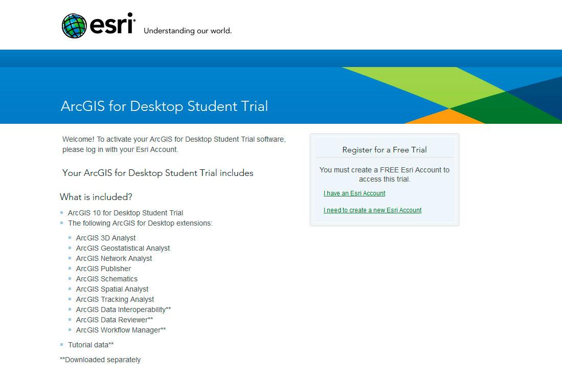 Crear una cuenta de ESRI para descargar ArcGIS