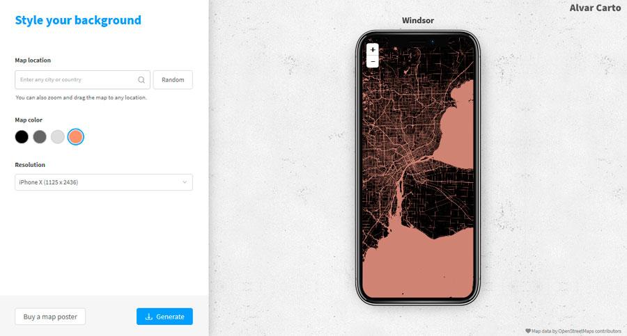 mapas para móvil