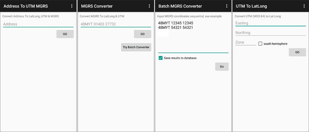 Conversión de coordenadas con aplicación GPS