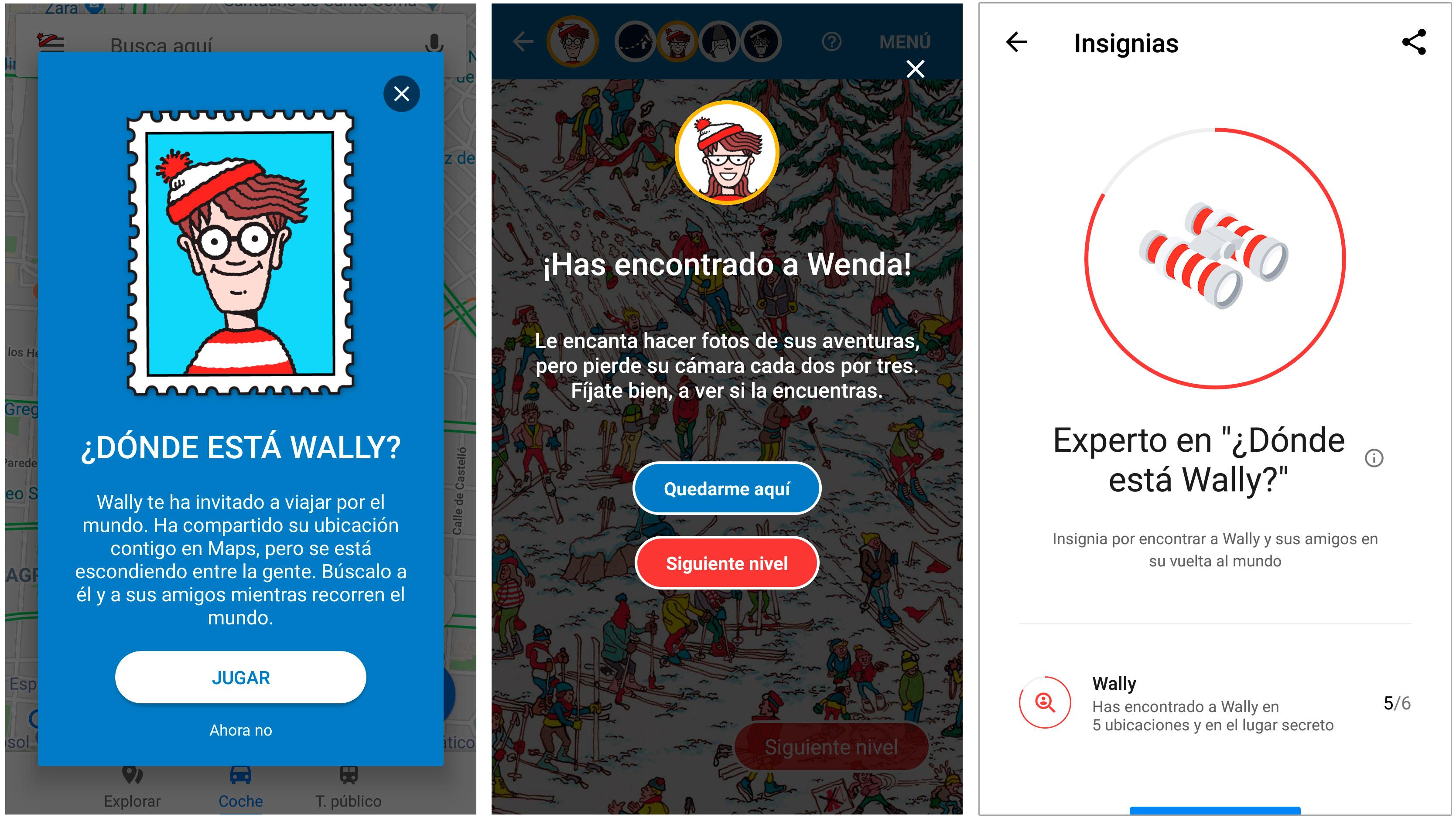 App movil donde está wally google maps