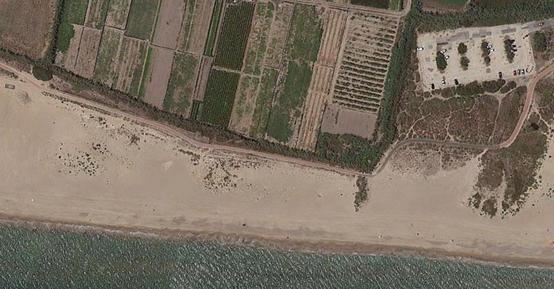 Imágenes aéreas de playas nudistas