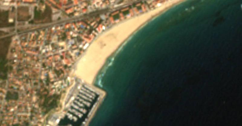 Playas nudistas a vista de imagen aérea de Sentinel