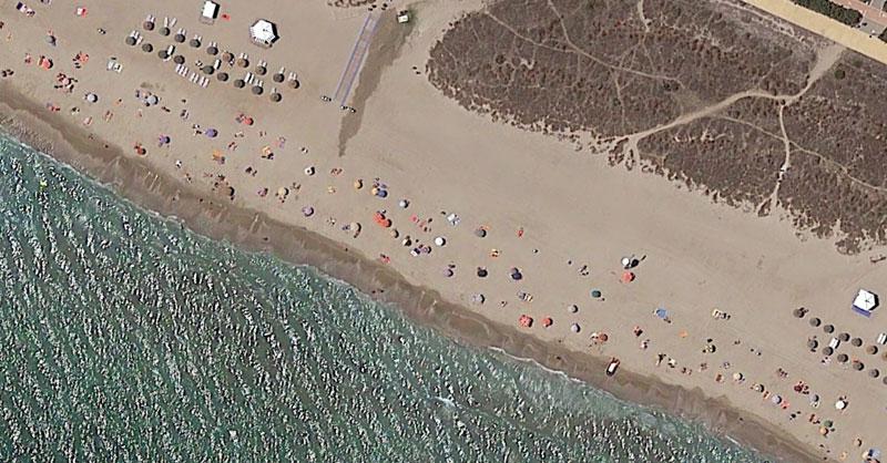 Playas nudistas a vista de imagen aérea