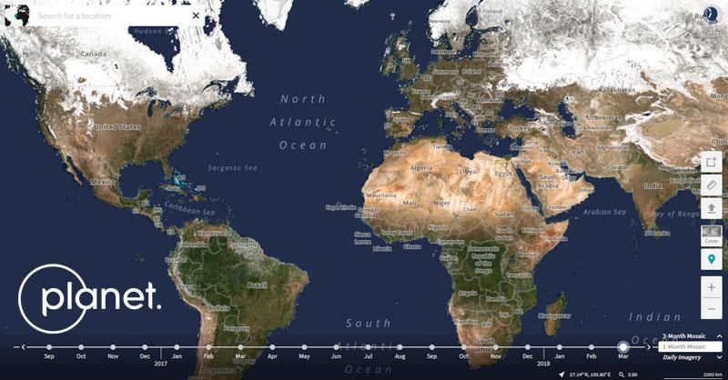 Descarga de imágenes satélite con Planet Explorer