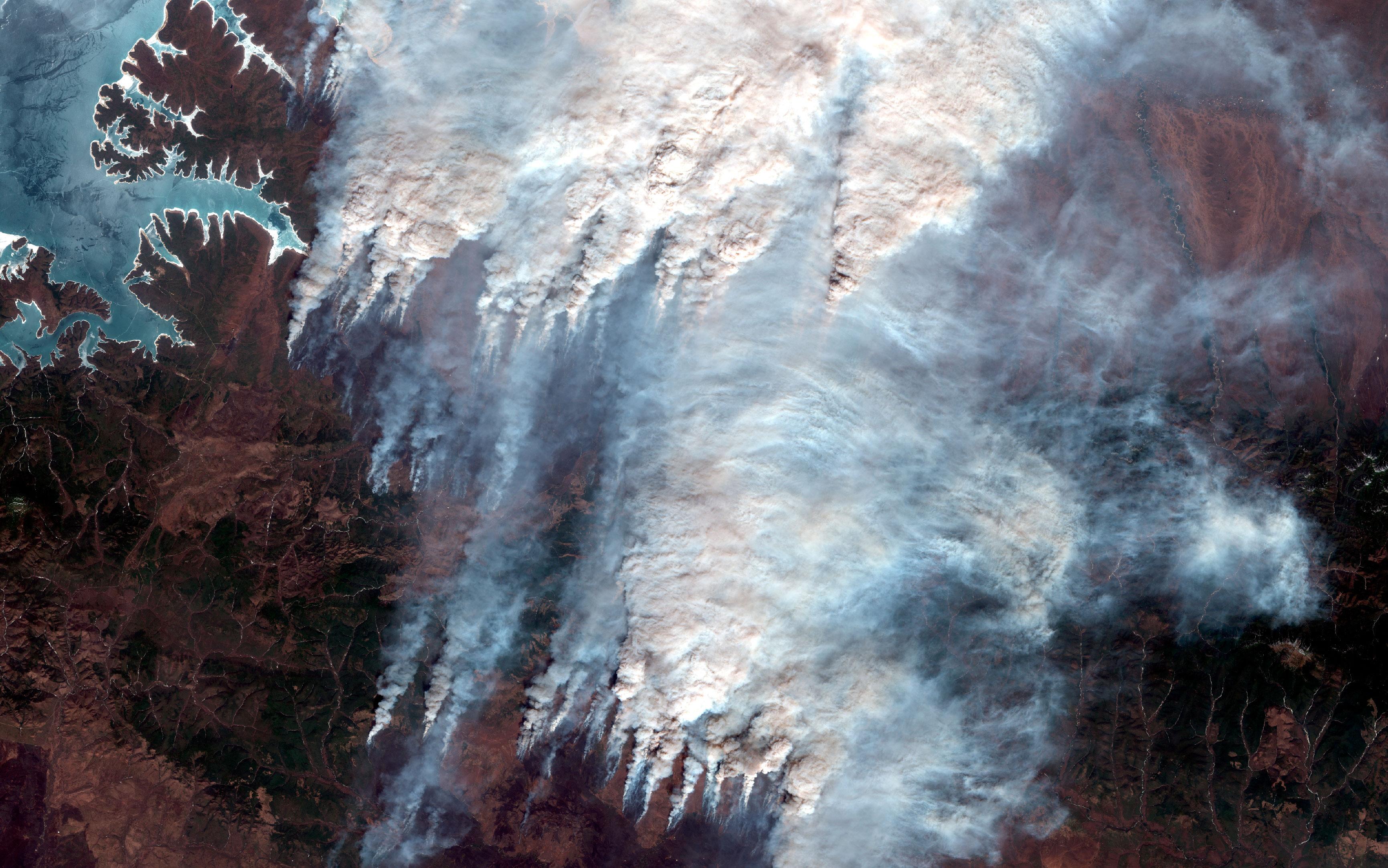 Las imágenes del incendio de Amur