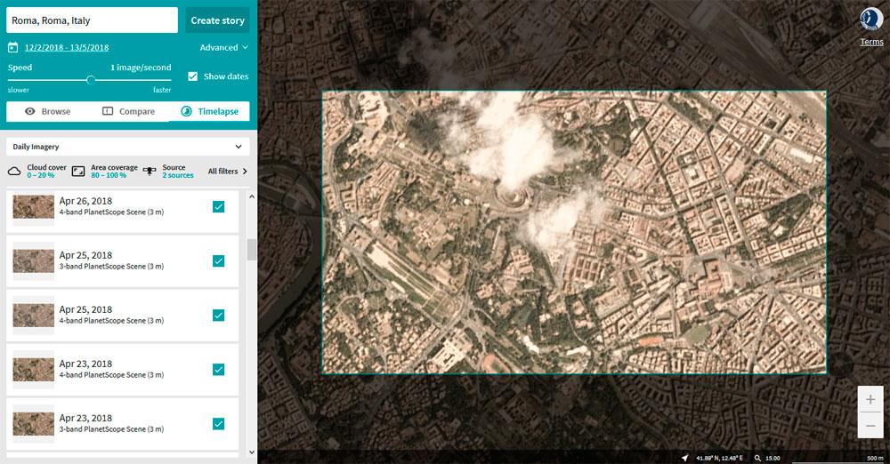 Imagenes satélite de Planet para crear Timelapses