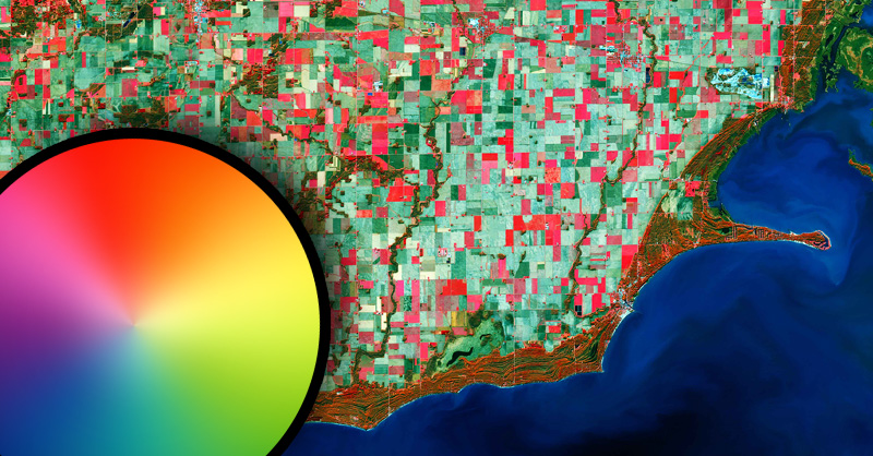 Cómo interpretar una imagen satélite a falso color