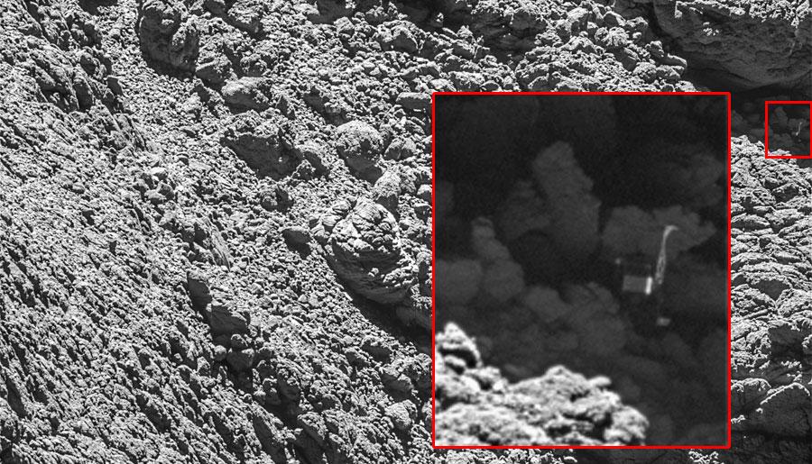 Encontrado Philae de Rosetta