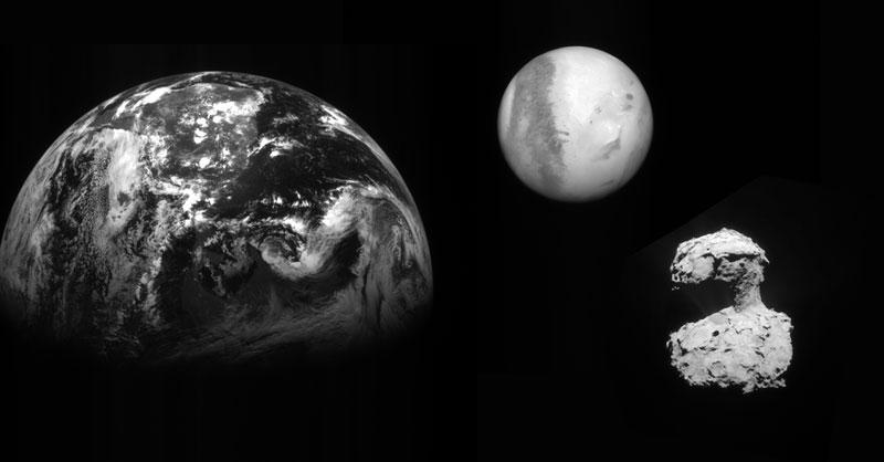Imágenes de la sonda Rosetta