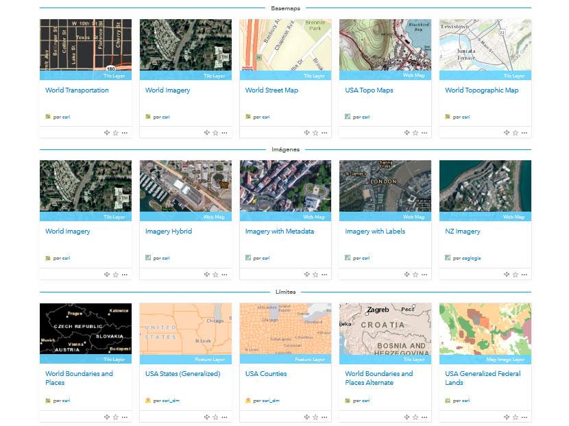 Mapas temáticos de Living Atlas