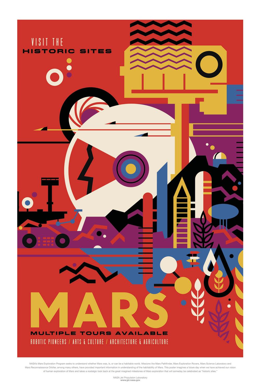 Posters de la NASA Marte