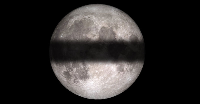 El eclipse lunar visto en versión terraplanista