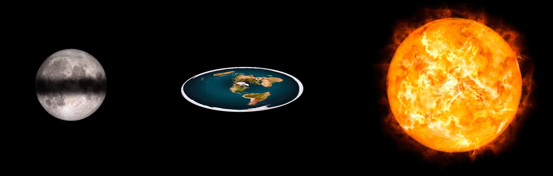 Eclipse lunar cuando la Tierra es plana