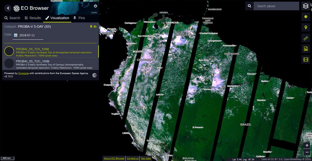 Descarga de imágenes satélite de Prova-V