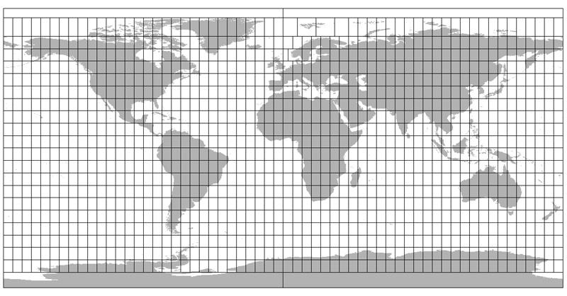 Nomenclatura y cartografía de la proyección UTM de Mercator
