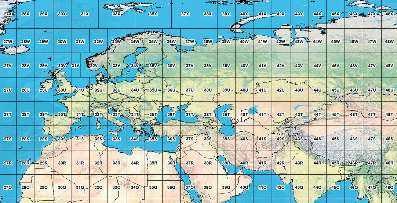 Nomenclatura y cartografía de la proyección UTM Universal Transversa Mercator