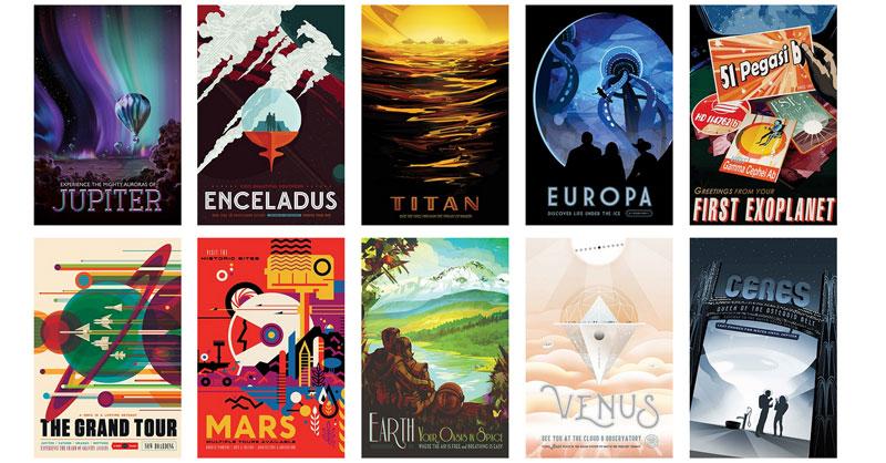 "Descarga de pósters de la NASA ""Visions of the Future"""