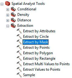 Extract by mask para recorte de archivos ráster