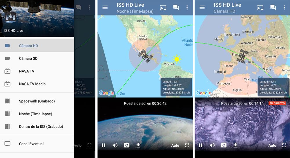 Ver imágenes de la Tierra en tiempo real