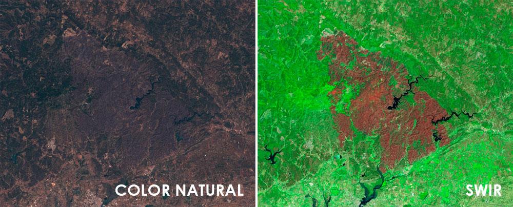 Análisis de incendios con imágenes satélite