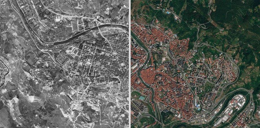 Comparar imágenes aéreas históricas