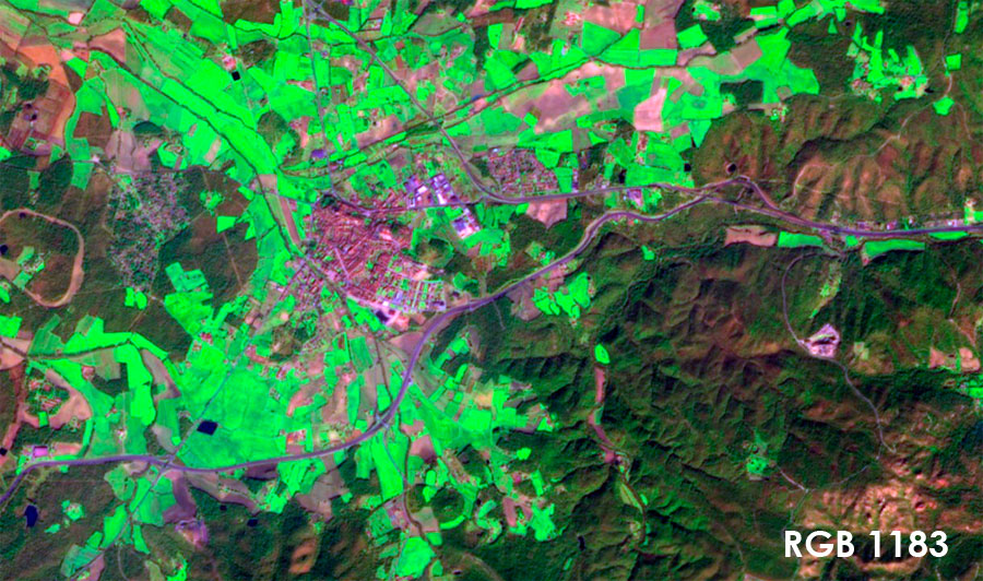 Curso de teledetección: composición de imágenes satélite