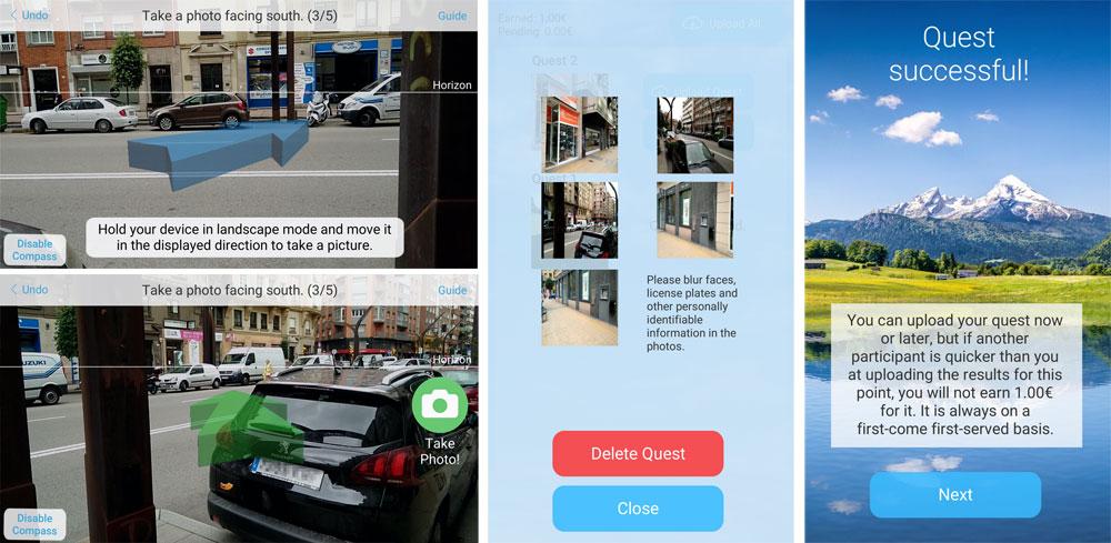 Aplicacion movil mapas fotoquest go