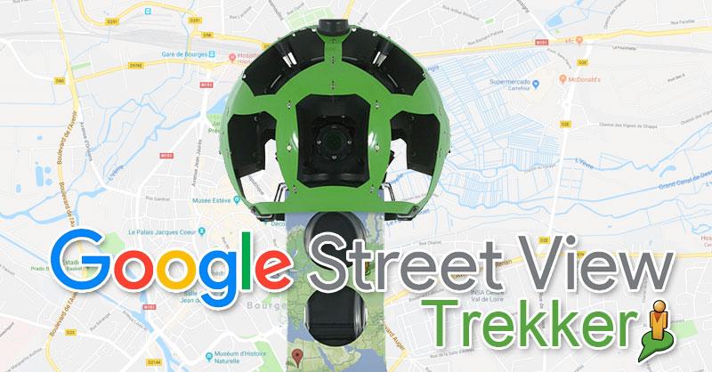 Mochila Street View Trekker para mapear gratis