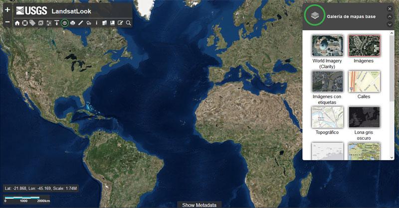 Descargar imágenes Landsat con LandLook Viewer