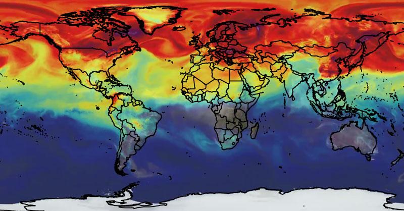 Seguimiento de la calidad del aire con satélites