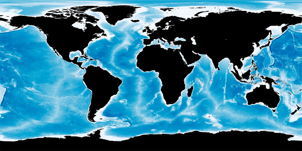 Descargar mapa batimétrico Blue Marble de la NASA