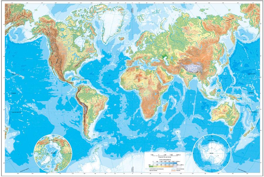 Plantillas de mapas físicos y políticos para imprimir