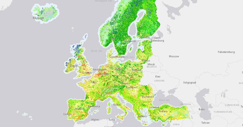 Descargar cartografía Corine Land Cover de usos del suelo