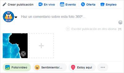 incorporar imágenes en 360º en Facebook
